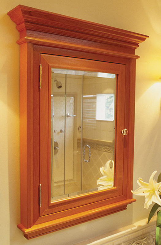 The Algonquin: Crown Moulding Medicine Cabinet